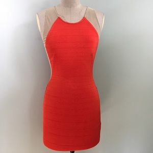 Wow Couture // Mesh & Bandage Cutout Mini Dress